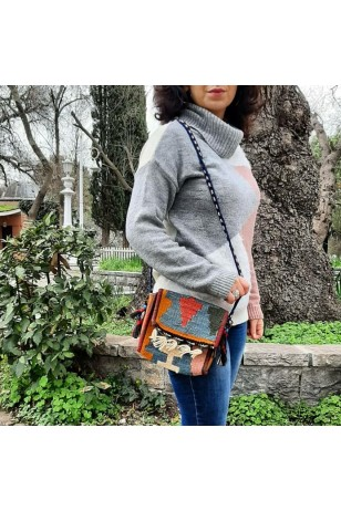 Kilim Kumaşı Mini Çanta